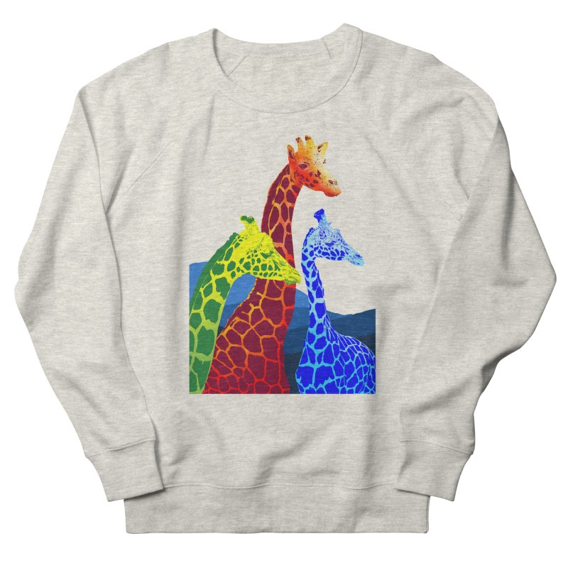 giraffe fams Women's French Terry Sweatshirt by gupikus's Artist Shop