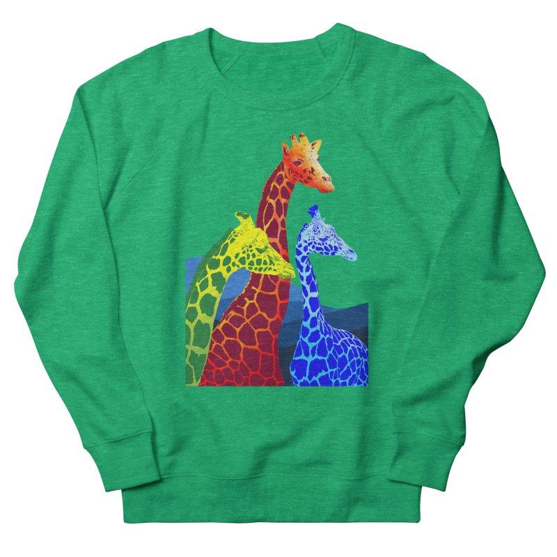 giraffe fams Men's French Terry Sweatshirt by gupikus's Artist Shop