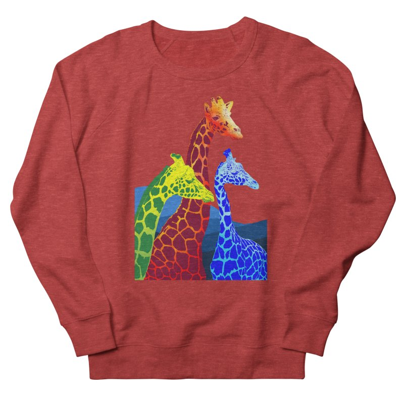 giraffe fams Men's French Terry Sweatshirt by gupikus's Artist Shop