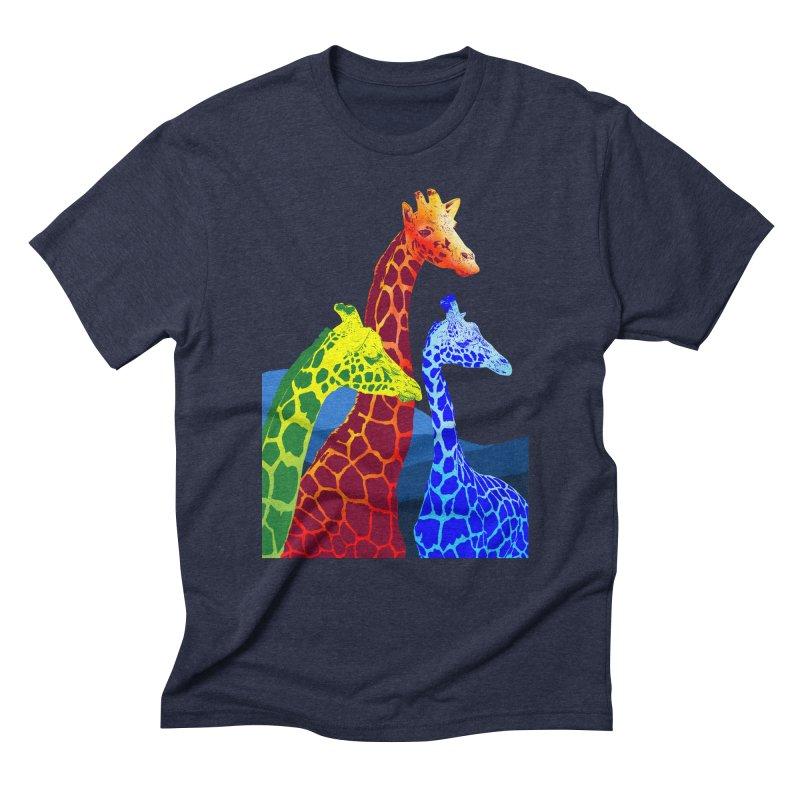 giraffe fams Men's Triblend T-Shirt by gupikus's Artist Shop