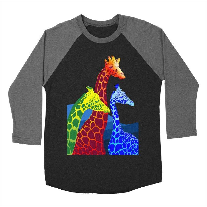 giraffe fams Women's Baseball Triblend Longsleeve T-Shirt by gupikus's Artist Shop