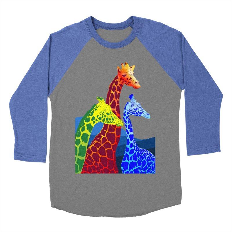 giraffe fams Men's Baseball Triblend Longsleeve T-Shirt by gupikus's Artist Shop