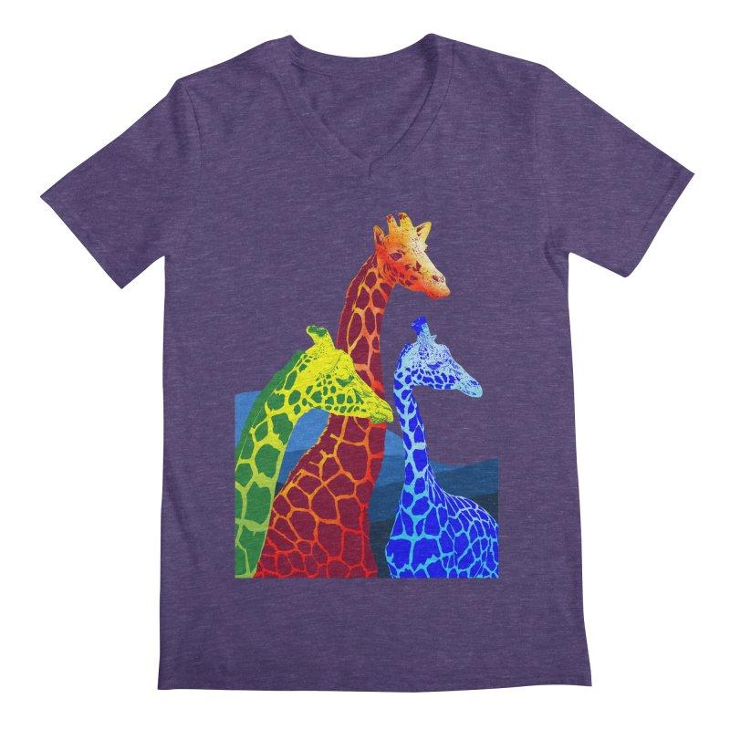 giraffe fams Men's V-Neck by gupikus's Artist Shop