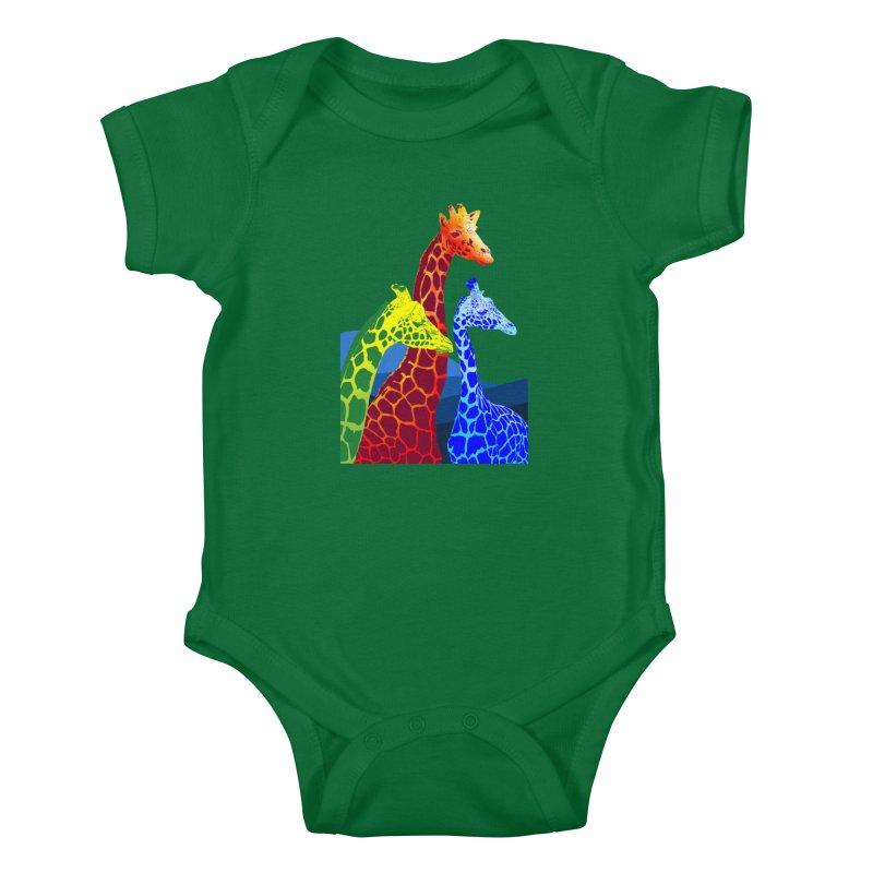 giraffe fams Kids Baby Bodysuit by gupikus's Artist Shop