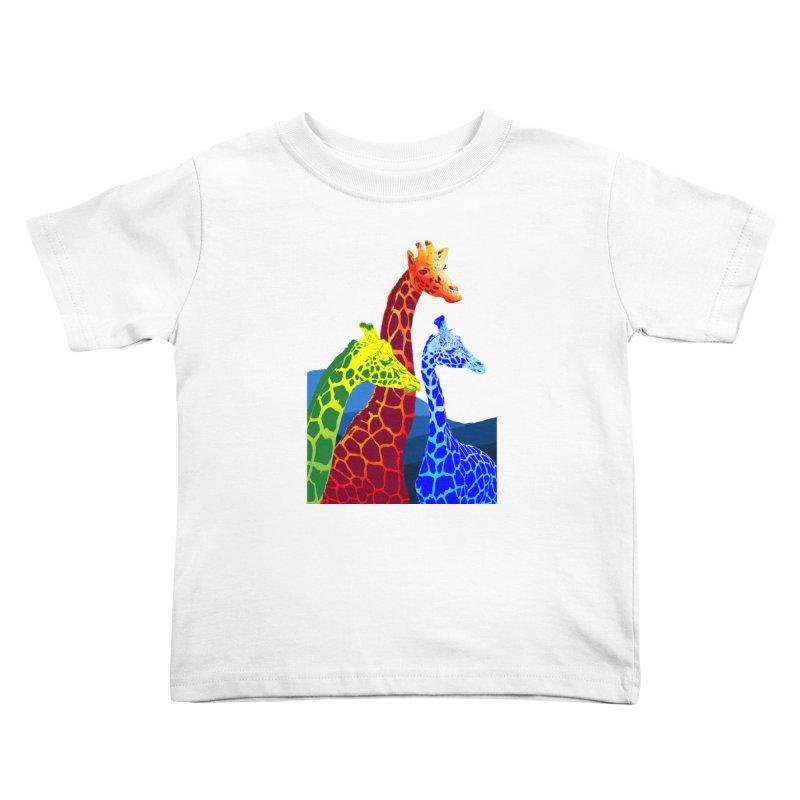 giraffe fams Kids Toddler T-Shirt by gupikus's Artist Shop