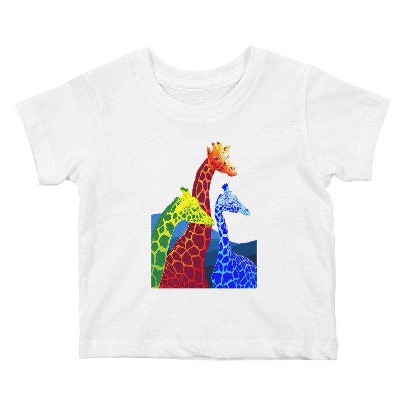 giraffe fams Kids Baby T-Shirt by gupikus's Artist Shop