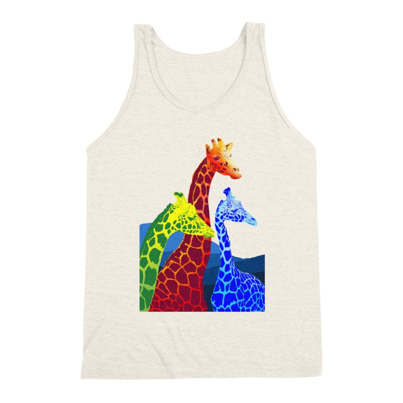 giraffe fams Men's Triblend Tank by gupikus's Artist Shop