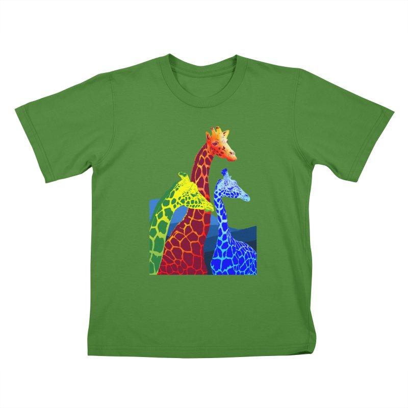 giraffe fams Kids T-Shirt by gupikus's Artist Shop