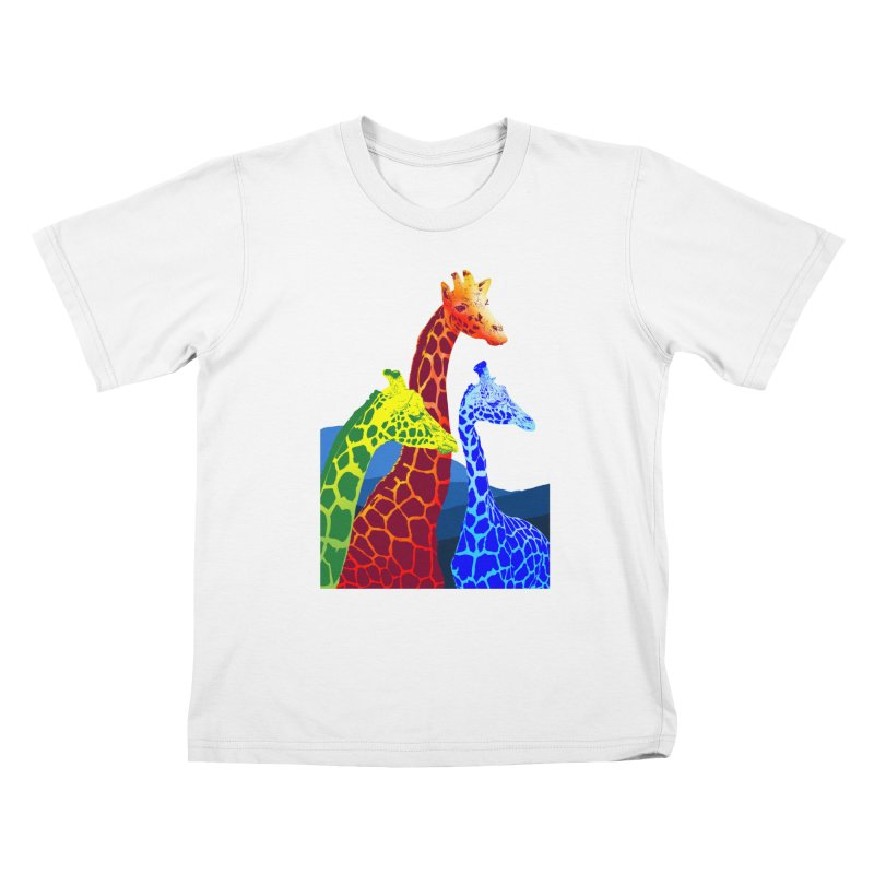 giraffe fams Kids T-Shirt by gupikus's Artist Shop