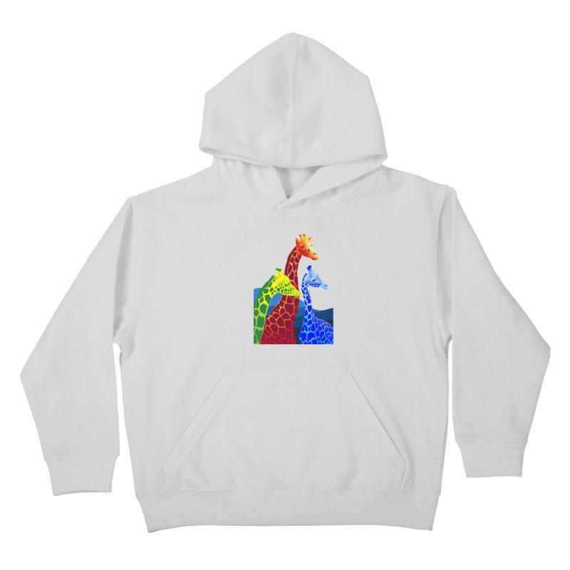 giraffe fams Kids Pullover Hoody by gupikus's Artist Shop