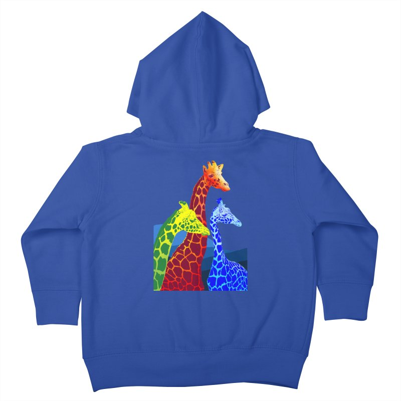 giraffe fams Kids Toddler Zip-Up Hoody by gupikus's Artist Shop
