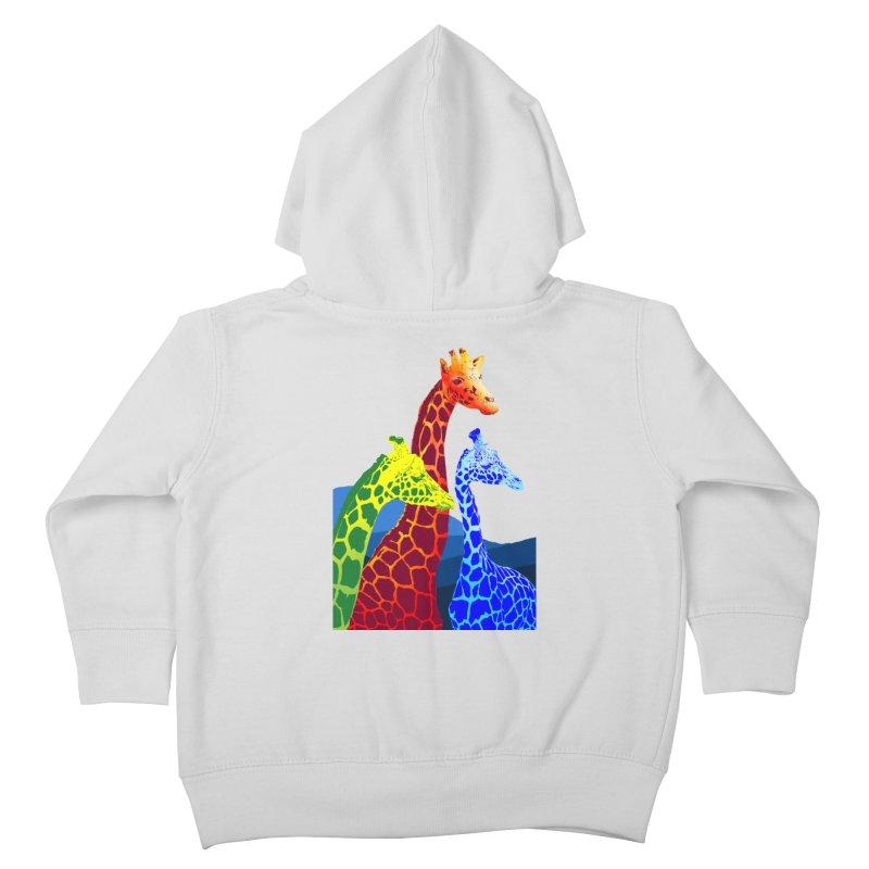 giraffe fams Kids Toddler Zip-Up Hoody by gupikus's Artist Shop