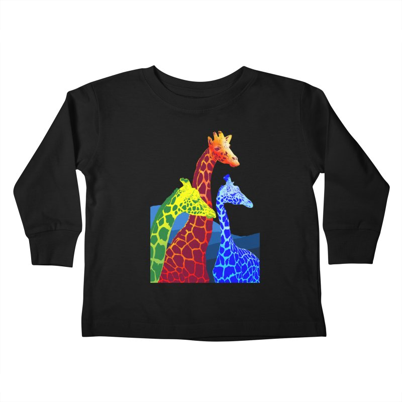 giraffe fams Kids Toddler Longsleeve T-Shirt by gupikus's Artist Shop