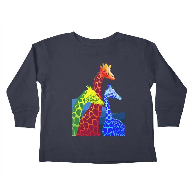 giraffe fams Kids Toddler Longsleeve T-Shirt by gupikus's Artist Shop