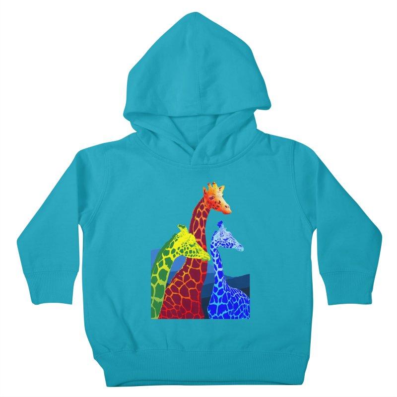 giraffe fams Kids Toddler Pullover Hoody by gupikus's Artist Shop