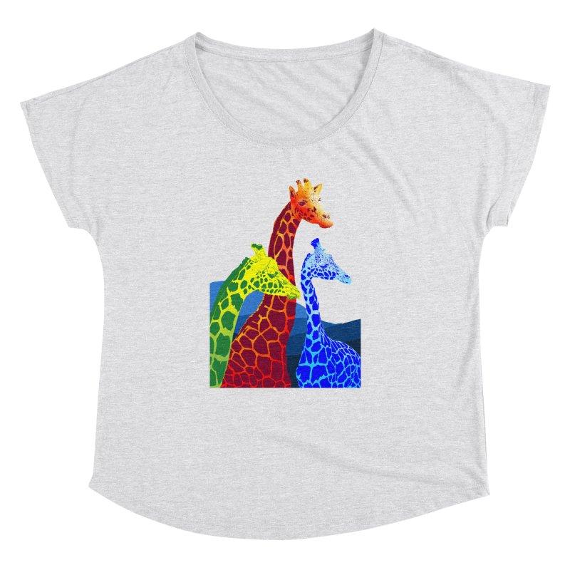 giraffe fams Women's Dolman Scoop Neck by gupikus's Artist Shop