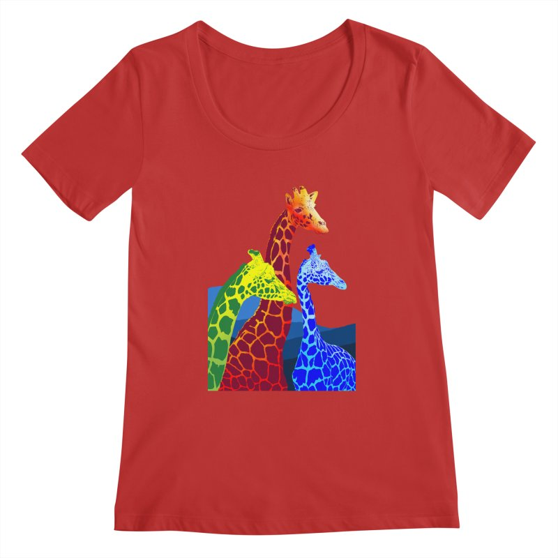 giraffe fams Women's Regular Scoop Neck by gupikus's Artist Shop