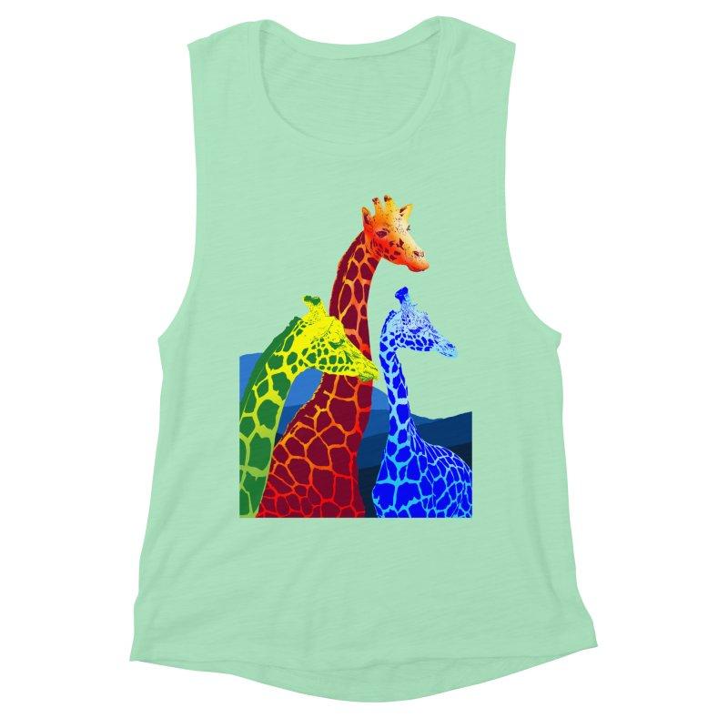 giraffe fams Women's Muscle Tank by gupikus's Artist Shop