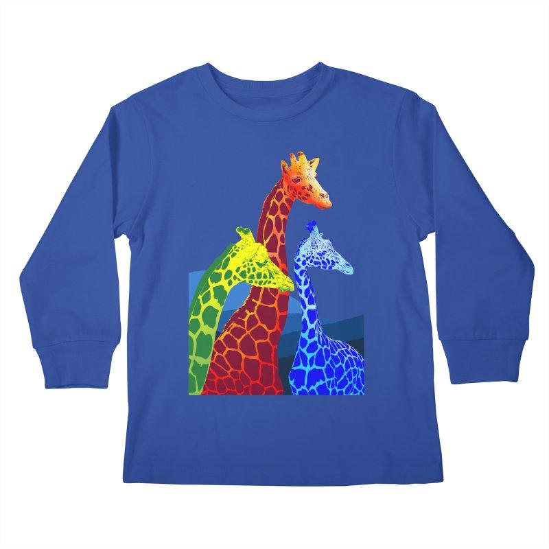 giraffe fams Kids Longsleeve T-Shirt by gupikus's Artist Shop