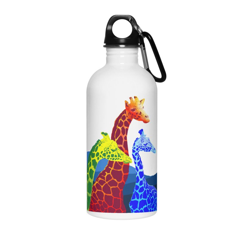 giraffe fams Accessories Water Bottle by gupikus's Artist Shop