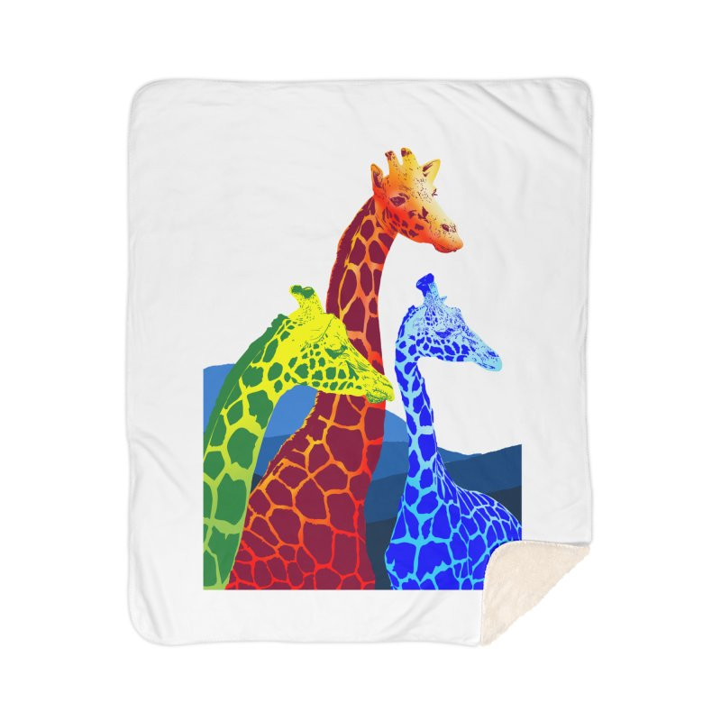 giraffe fams Home Sherpa Blanket Blanket by gupikus's Artist Shop