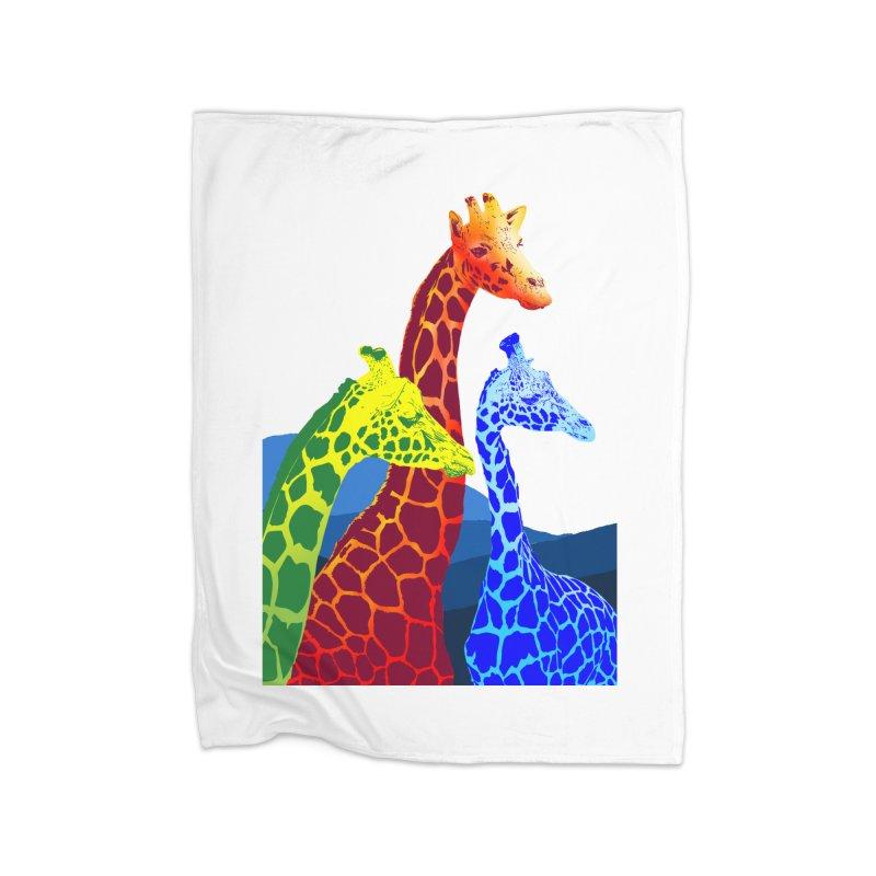 giraffe fams Home Blanket by gupikus's Artist Shop