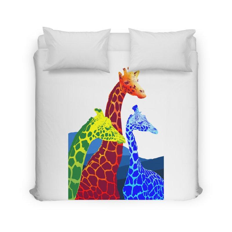 giraffe fams Home Duvet by gupikus's Artist Shop