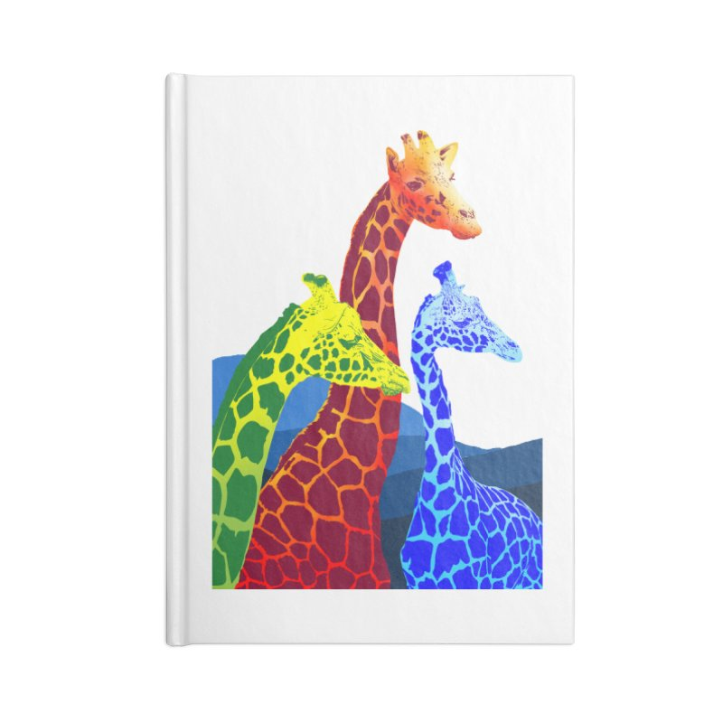 giraffe fams Accessories Blank Journal Notebook by gupikus's Artist Shop