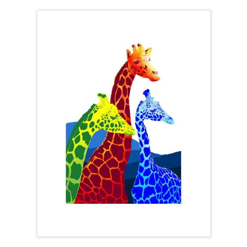 giraffe fams Home Fine Art Print by gupikus's Artist Shop