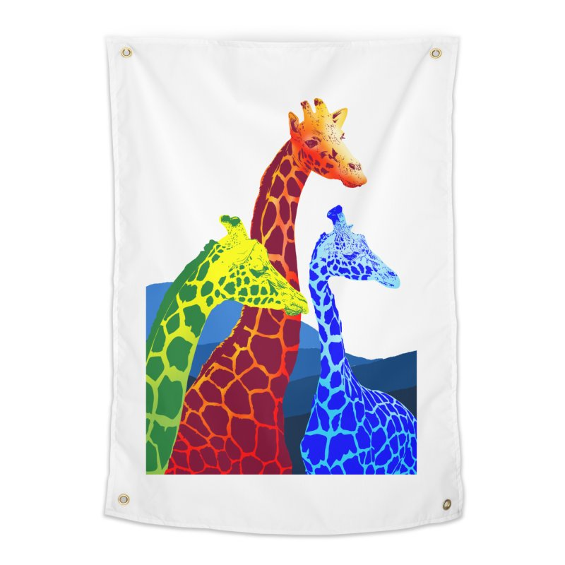 giraffe fams Home Tapestry by gupikus's Artist Shop