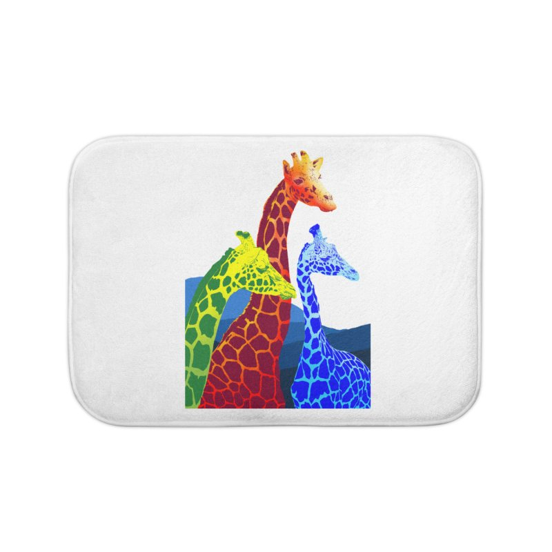 giraffe fams Home Bath Mat by gupikus's Artist Shop