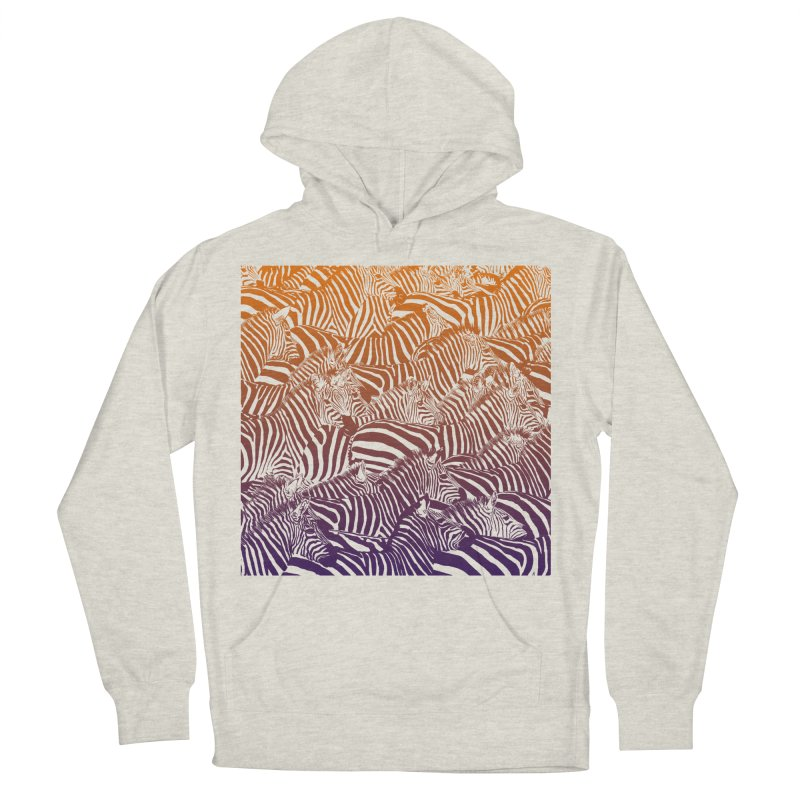 zebras Women's French Terry Pullover Hoody by gupikus's Artist Shop