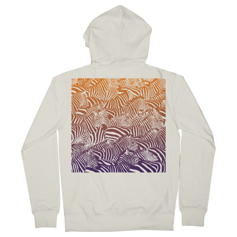 zebras Women's French Terry Zip-Up Hoody by gupikus's Artist Shop