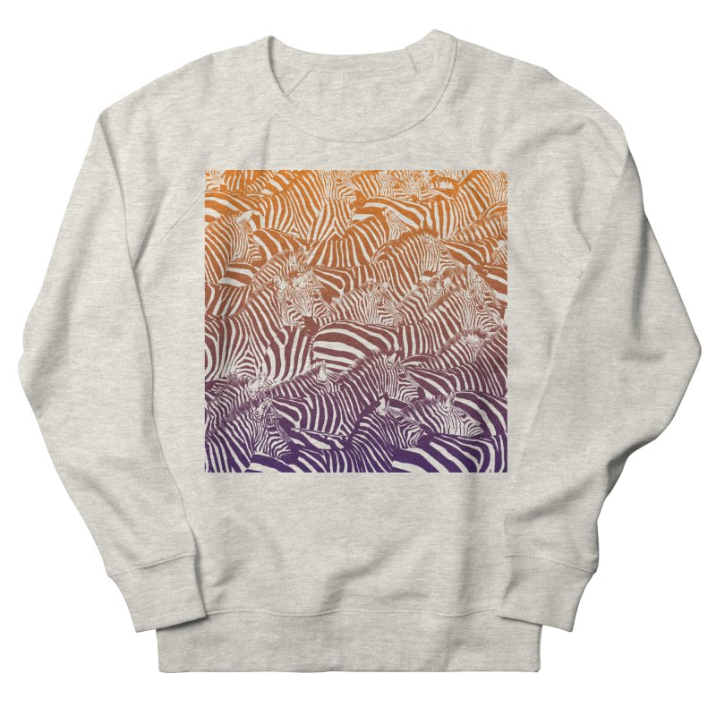zebras Women's French Terry Sweatshirt by gupikus's Artist Shop
