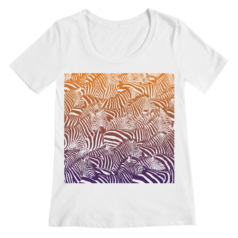 zebras Women's Regular Scoop Neck by gupikus's Artist Shop