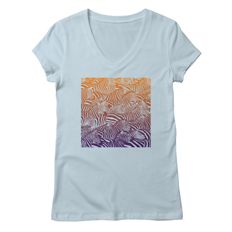 zebras Women's V-Neck by gupikus's Artist Shop