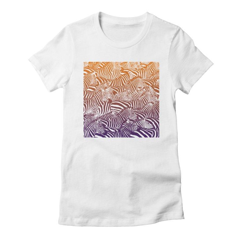 zebras Women's Fitted T-Shirt by gupikus's Artist Shop