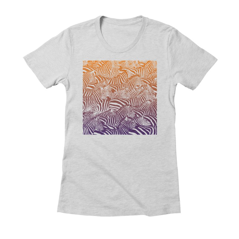 zebras Women's Fitted T-Shirt by gupikus's Artist Shop