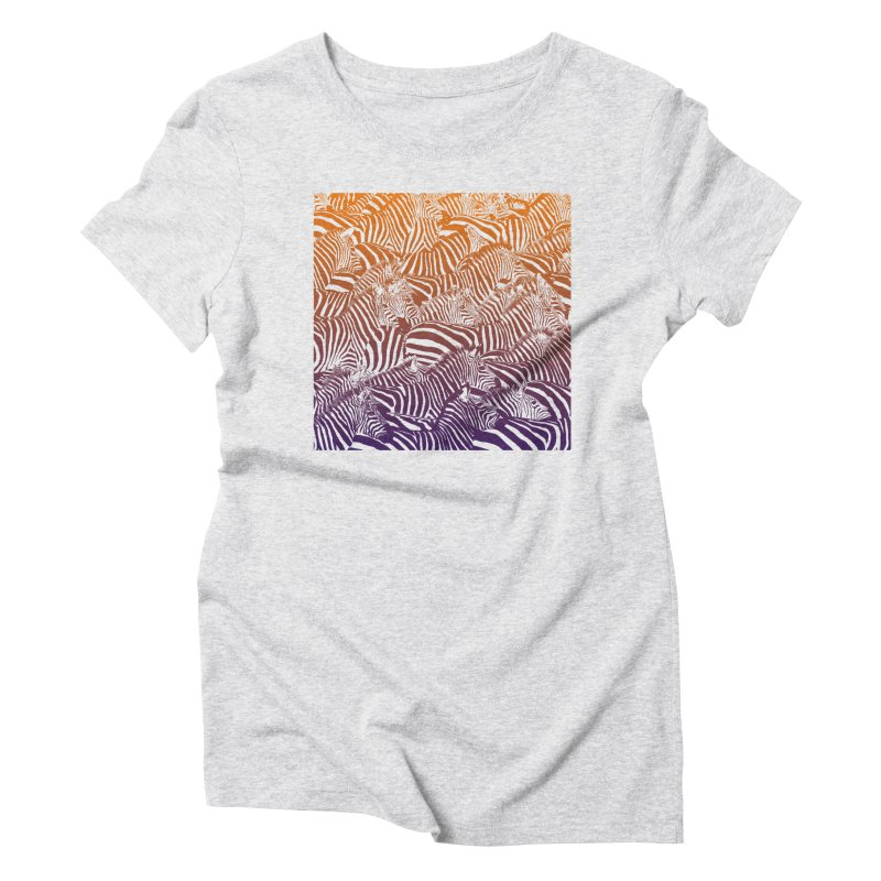 zebras Women's Triblend T-Shirt by gupikus's Artist Shop