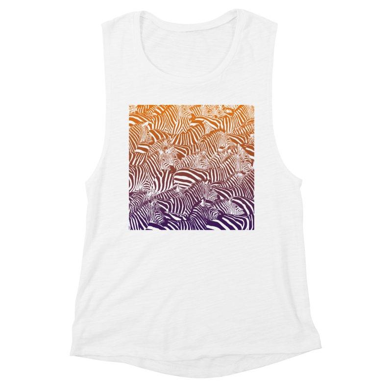 zebras Women's Muscle Tank by gupikus's Artist Shop
