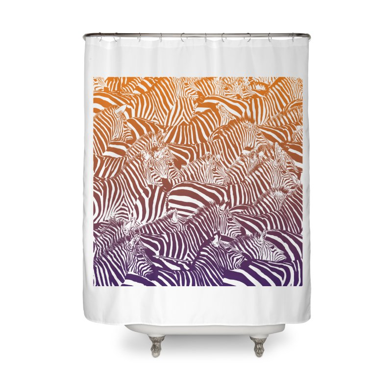 zebras Home Shower Curtain by gupikus's Artist Shop