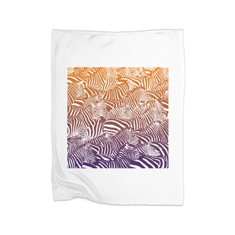 zebras Home Fleece Blanket Blanket by gupikus's Artist Shop