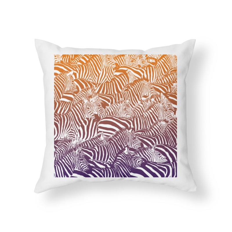 zebras Home Throw Pillow by gupikus's Artist Shop