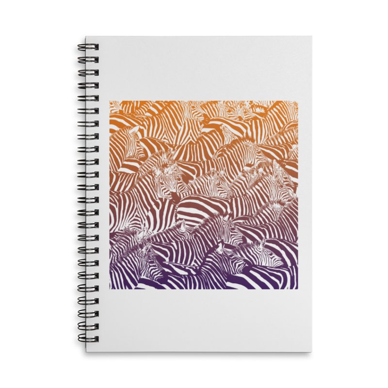 zebras Accessories Lined Spiral Notebook by gupikus's Artist Shop