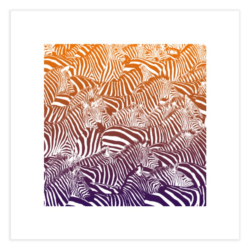 zebras Home Fine Art Print by gupikus's Artist Shop