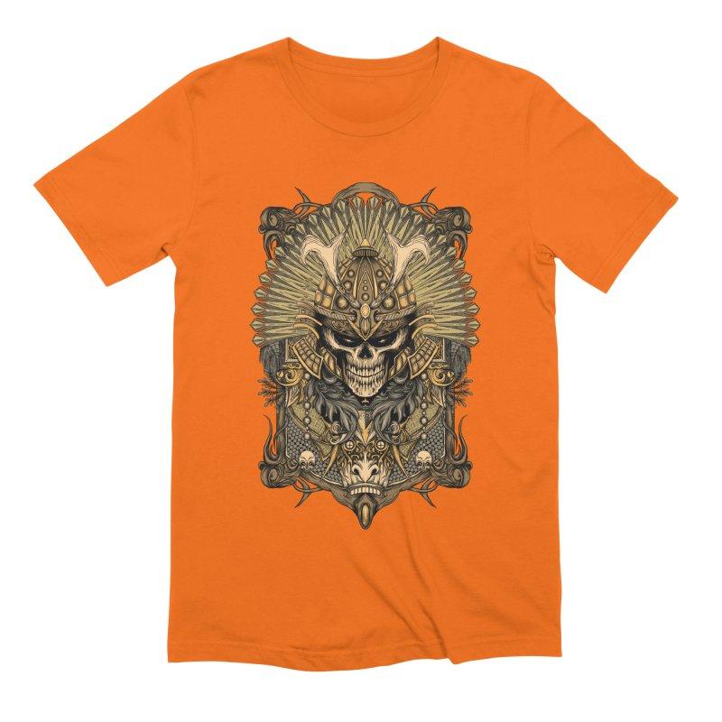 ornamental samurai skull Men's Extra Soft T-Shirt by gupikus's Artist Shop