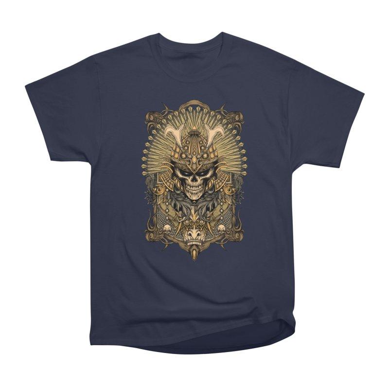ornamental samurai skull Women's Classic Unisex T-Shirt by gupikus's Artist Shop