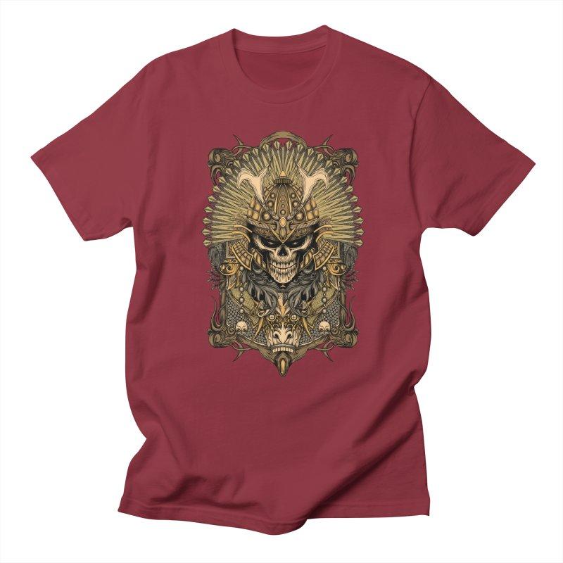 ornamental samurai skull Women's Unisex T-Shirt by gupikus's Artist Shop
