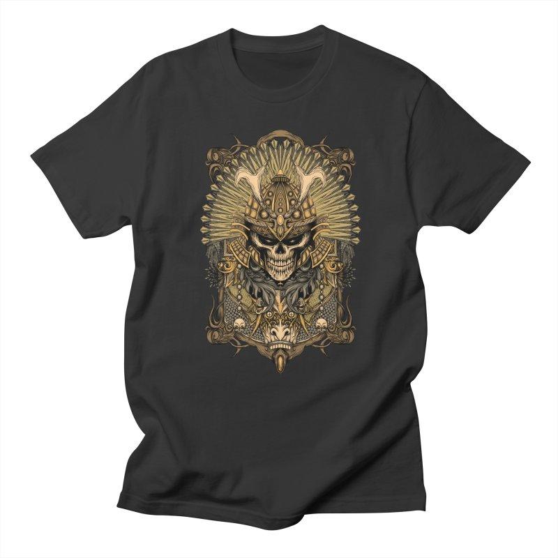 ornamental samurai skull Women's Regular Unisex T-Shirt by gupikus's Artist Shop