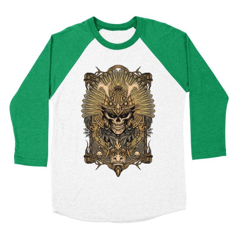 ornamental samurai skull Women's Baseball Triblend T-Shirt by gupikus's Artist Shop